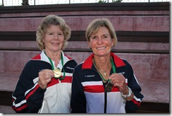 Steel, Anderson with medals