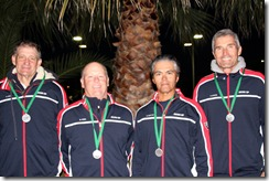 Austria Cup with medals, Cash, Vines, Castillo, Markes