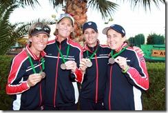 Lenglen Cup with medals, Woorons-Johnston, Dailey, Blouin, Zerdan-001