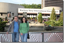 Stuart and Wendy and Film Festival Sign