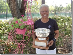 Roz with trophy