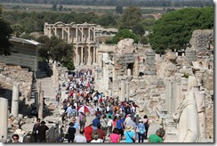 I meant it when I said all the tourists were in Ephesus!