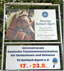 tournament sign on main road in Rottach