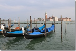 gondolas waiting